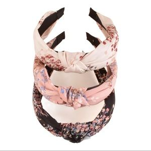New 3 pcs.  Floral Knotted Headbands